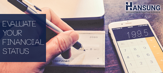 evaluate financial status